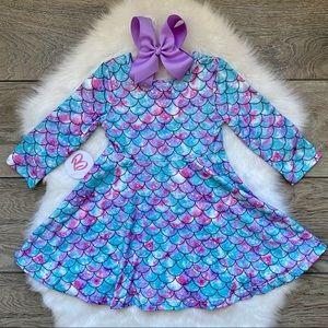 Girl Boutique Mermaid Twirl Dress Set